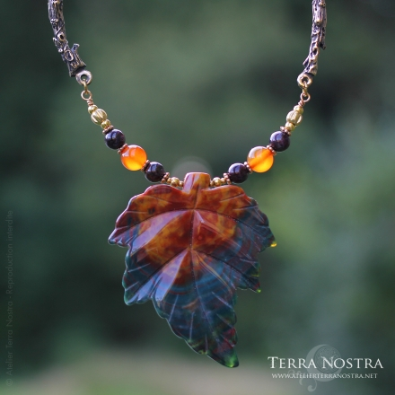 """Collier """"Murmures d'Automne"""" — Agate"""