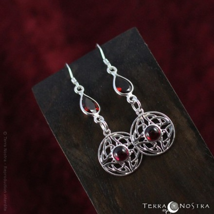 """Celtic Circle"" celtic earrings"