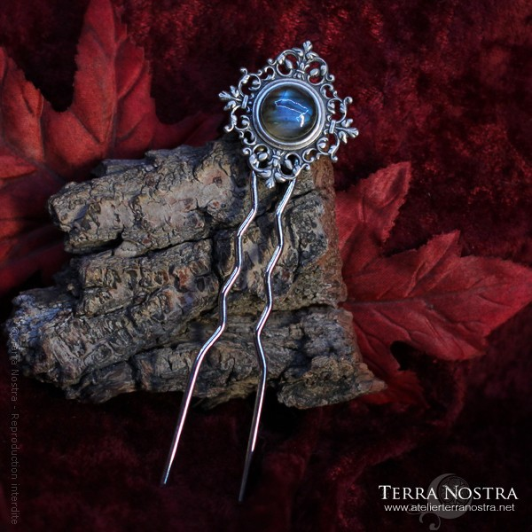 """""""Frost"""" double hair pin"""